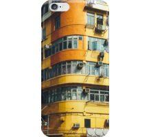 Yellow Building Facade in Hong Kong iPhone Case/Skin