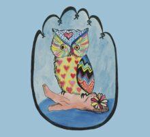Love Owl on a Log Baby Tee