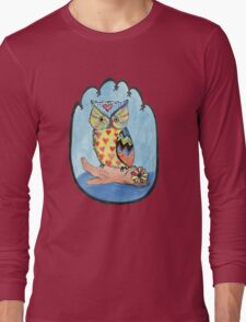Love Owl on a Log Long Sleeve T-Shirt