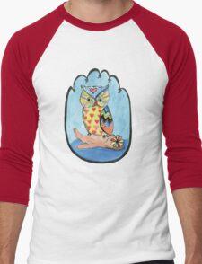 Love Owl on a Log Men's Baseball ¾ T-Shirt