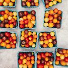 Heirloom Cherry Tomatoes in Small Boxes by visualspectrum