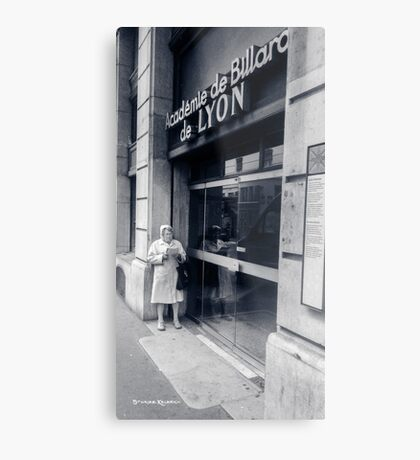 The old lady reading Metal Print