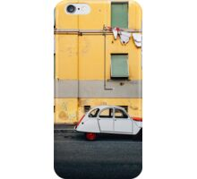 Vintage Car Parked in Front of Yellow Apartment Building in Italy iPhone Case/Skin