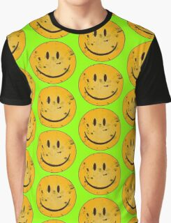 Acid Smiley Grunge Graphic T-Shirt