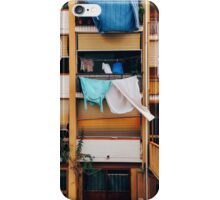 Vintage Building Facade with Drying Laudry on Balcony in Italy iPhone Case/Skin