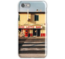 Old-Fashioned Roadside Bar in Rural Italy iPhone Case/Skin