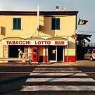 Old-Fashioned Roadside Bar in Rural Italy by visualspectrum