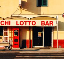 Old-Fashioned Roadside Bar in Rural Italy Sticker