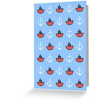 Oh I do like to be beside the sea Greeting Card