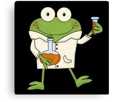Science Frog Laboratory Experiment Canvas Print