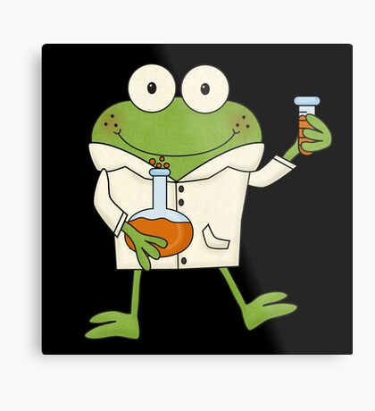 Science Frog Laboratory Experiment Metal Print