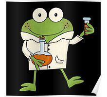 Science Frog Laboratory Experiment Poster