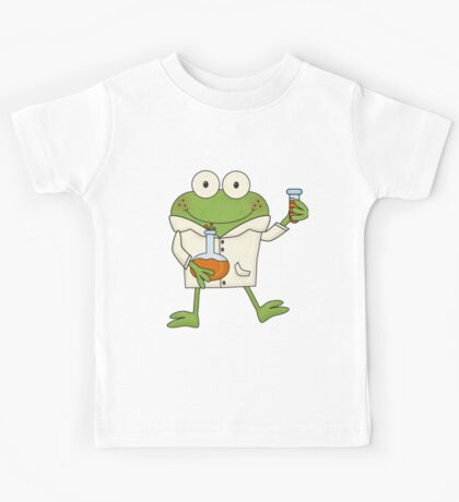 Science Frog Laboratory Experiment Kids Tee