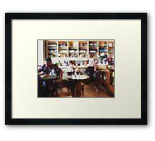Restaurant Defocused Framed Print