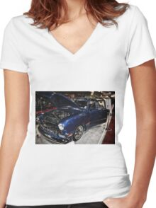 Classic Car 10 Women's Fitted V-Neck T-Shirt