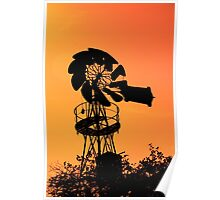 Old Farm Windmill Poster