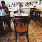 People in Italian Restaurant Out of Focus by visualspectrum