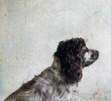 Profile of Cocker Spaniel Sitting in Shabby Apartment Sticker