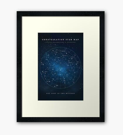 Constellation Star Map Framed Print