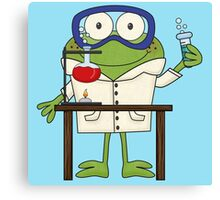 Frog Doing Science Experiments in Laboratory Canvas Print