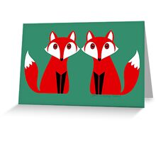 TWO FOXES Greeting Card