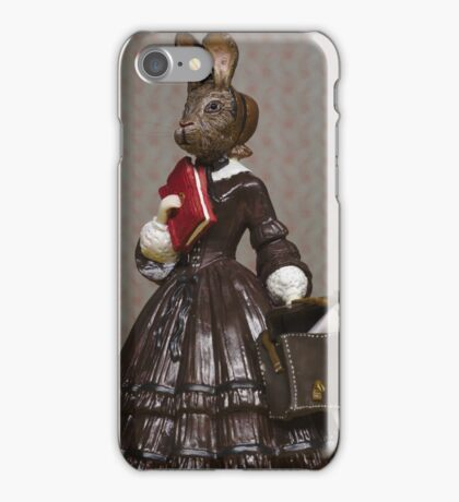 Louisa May Alcottontail - Altered Authors iPhone Case/Skin