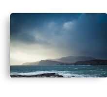 Storm clouds over Sliabh Liag Canvas Print