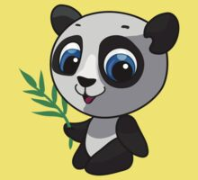 Vector illustration of a wild panda One Piece - Short Sleeve
