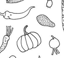 Vegetables - Black&white - Sticker