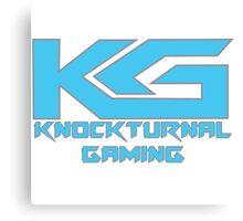Knockturnal Gaming Logo with name Canvas Print