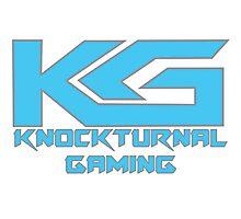 Knockturnal Gaming Logo with name Photographic Print