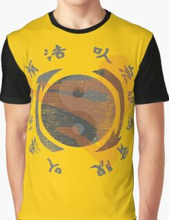 Jeet Kune Do Kung Fu Emblem & Silhouette  Graphic T-Shirt