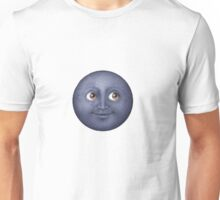 Black moon emoji Unisex T-Shirt