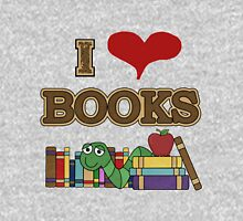 I Love Heart Books Reading Awareness Womens Fitted T-Shirt