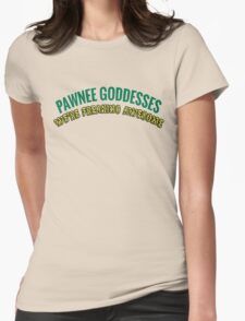Leslie Knope Pawnee Goddesses Badge Womens Fitted T-Shirt