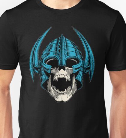 skull with helmet Unisex T-Shirt