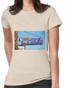 Blue Chicago Club Womens Fitted T-Shirt