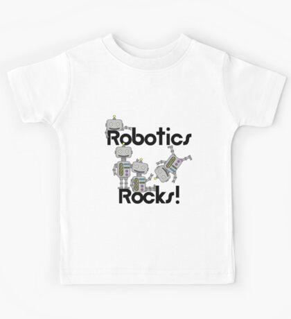 Robotics Rocks Science Educational School Kids Tee