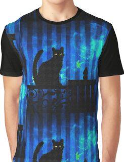Gothic Cat Graphic T-Shirt