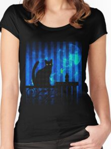 Gothic Cat Women's Fitted Scoop T-Shirt