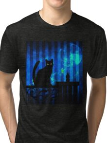 Gothic Cat Tri-blend T-Shirt