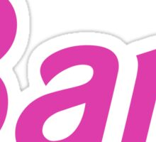 Barf Pink Barbie Letters Sticker