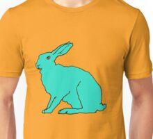 Türkiser Hase F Unisex T-Shirt