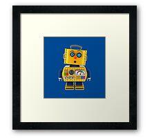 Surprised toy robot Framed Print