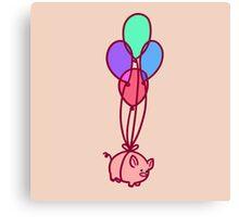 Balloon Piggy Canvas Print