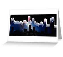 Boston skyline 2 Greeting Card