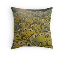 Little Green Men Throw Pillow