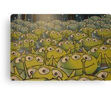 Little Green Men Friendly 3 Eyed Aliens  Canvas Print