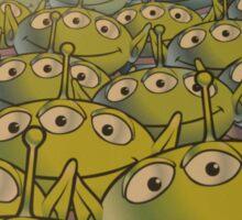 Little Green Men Friendly 3 Eyed Aliens  Sticker