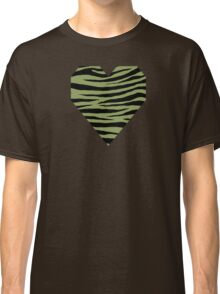 0440 Moss Green or Turtle Green Tiger Classic T-Shirt